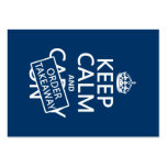 Keep Calm and Order Takeaway (in any colour) Large Business Cards (Pack Of 100)