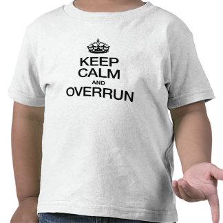 KEEP CALM AND OVERRUN SHIRT