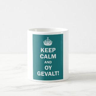 """Keep Calm and Oy Gevalt!"" Coffee Mug"