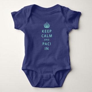 Keep Calm and Paci In (Dark Tees) Baby Bodysuit