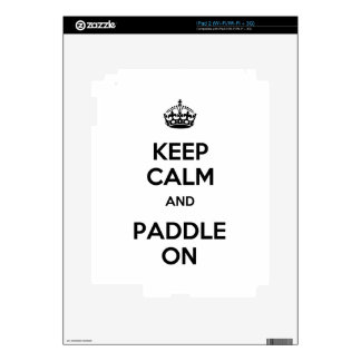 Keep Calm and Paddle On Decals For iPad 2