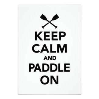 "Keep calm and Paddle on 3.5"" X 5"" Invitation Card"