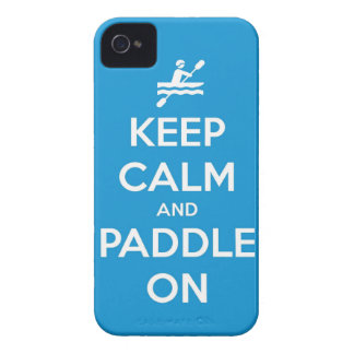 keep calm and paddle on iPhone 4 Case-Mate case