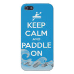 keep calm and paddle on kayak canoe water sports r case for iPhone SE/5/5s