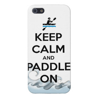 keep calm and paddle on kayak canoe water sports r cover for iPhone SE/5/5s