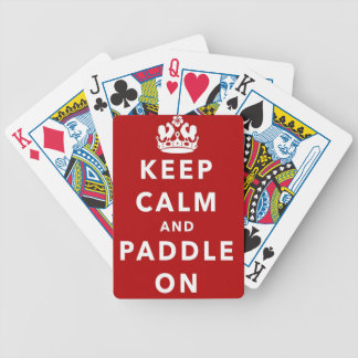 Keep Calm and Paddle On Bicycle Card Deck