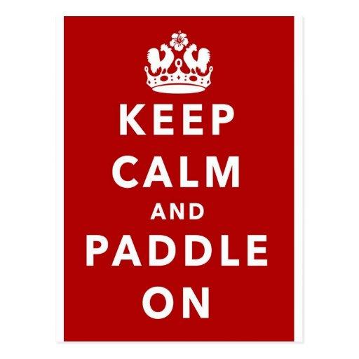 Keep Calm and Paddle On Postcard