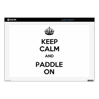 Keep Calm and Paddle On Laptop Decal