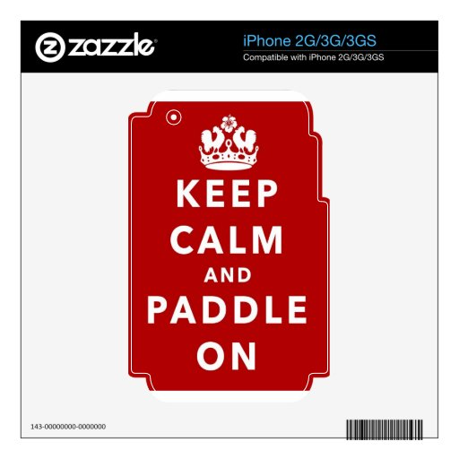 Keep Calm and Paddle On Skin For iPhone 3GS