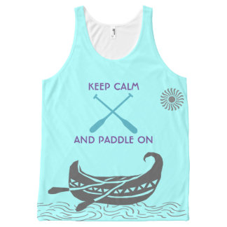 keep Calm And Paddle On Tank Tops All-Over Print Tank Top