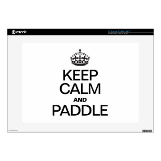 """KEEP CALM AND PADDLE 15"""" LAPTOP SKINS"""