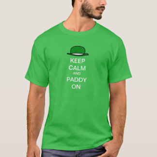 Keep Calm and Paddy on Derby Hat T-Shirt
