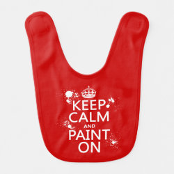 Baby Bib with Keep Calm and Paint On design