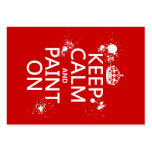 Keep Calm and Paint On (in all colors) Business Cards