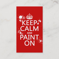 with Keep Calm and Paint On design