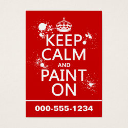 Chubby Business Cards (100-pack) with Keep Calm and Paint On design