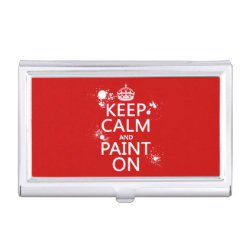 Business Card Holder with Keep Calm and Paint On design
