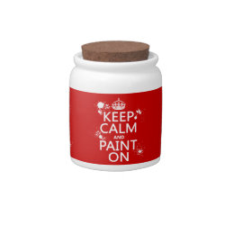 Candy Jar with Keep Calm and Paint On design