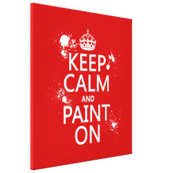 Premium Wrapped Canvas with Keep Calm and Paint On design