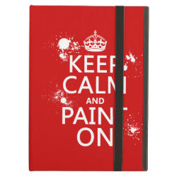iPad Air Powis Case with Keep Calm and Paint On design