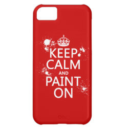 Case-Mate Barely There iPhone 5C Case with Keep Calm and Paint On design
