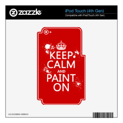 iPod Classic (80/120/160GB) Skin with Keep Calm and Paint On design