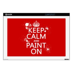 17' Laptop Skin for Mac & PC with Keep Calm and Paint On design