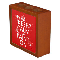 Desk Organizer with Keep Calm and Paint On design