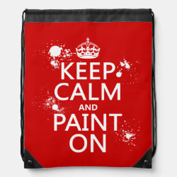 Drawstring Backpack with Keep Calm and Paint On design