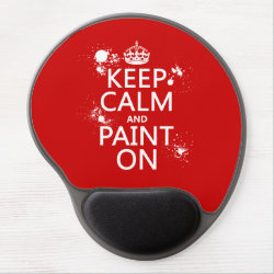 Gel Mousepad with Keep Calm and Paint On design