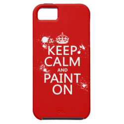 Case-Mate Vibe iPhone 5 Case with Keep Calm and Paint On design