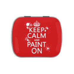 Rectangle Jelly Belly™ Candy Tin with Keep Calm and Paint On design