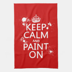 Kitchen Towel 16' x 24' with Keep Calm and Paint On design