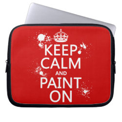 Neoprene Laptop Sleeve 10 inch with Keep Calm and Paint On design