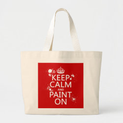 Jumbo Tote Bag with Keep Calm and Paint On design