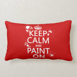 Throw Pillow Lumbar 13' x 21' with Keep Calm and Paint On design