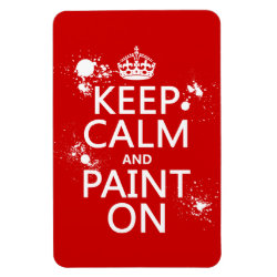 4'x6' Photo Magnet with Keep Calm and Paint On design
