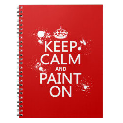 Photo Notebook (6.5' x 8.75', 80 Pages B&W) with Keep Calm and Paint On design