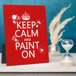 Photo Plaque 8' x 10' with Easel with Keep Calm and Paint On design
