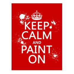 Postcard with Keep Calm and Paint On design