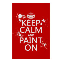 Matte Poster with Keep Calm and Paint On design