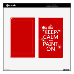 Amazon Kindle DX Skin with Keep Calm and Paint On design
