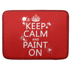 Macbook Pro 15' Flap Sleeve with Keep Calm and Paint On design
