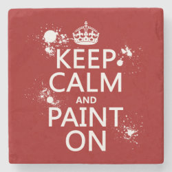 Marble Coaster with Keep Calm and Paint On design
