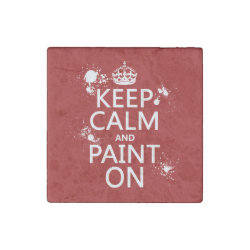 Marble Magnet with Keep Calm and Paint On design