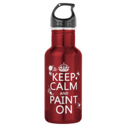 Water Bottle (24 oz) with Keep Calm and Paint On design