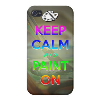 keep calm and paint on phone case