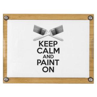 Keep Calm and Paint On Rectangular Cheeseboard
