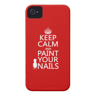 Keep Calm and Paint Your Nails (all colors) iPhone 4 Case