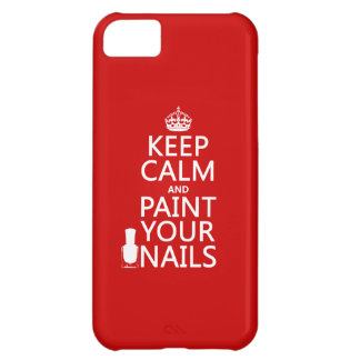 Keep Calm and Paint Your Nails (all colors) iPhone 5C Cover